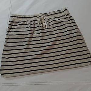 {Loft}NWOT Women's Casual Cotton Drawstring Skirt